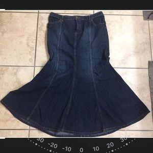 Mermaid blue jean skirt